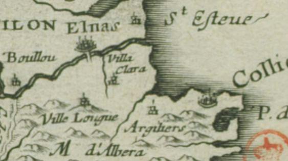 1 1642 carte ancienne - Le Racou vu d'en haut - Cartes géographiques