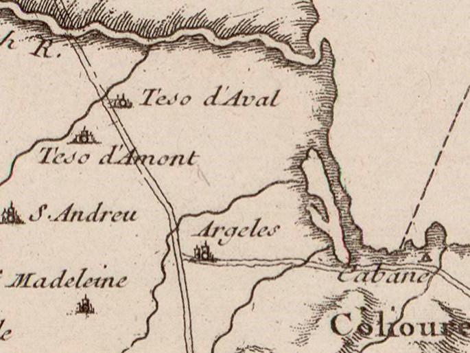 13 1764 carte du languedoc et roussillon depuis leucate jusqu a port vendres - Le Racou vu d'en haut - Cartes géographiques