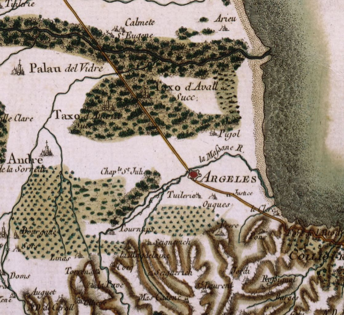 14 1779 carte de cassini - Le Racou vu d'en haut - Cartes géographiques
