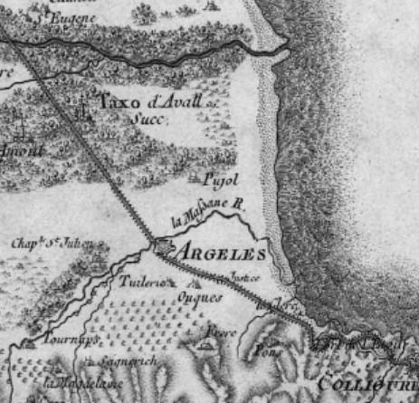 17 1815 cesar francois cassini de thury - Le Racou vu d'en haut - Cartes géographiques