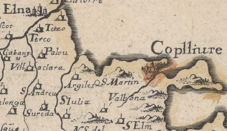 2 1645 description de catalogne comtez de roussillon cerdagne ribagorca et barrabez - Le Racou vu d'en haut - Cartes géographiques