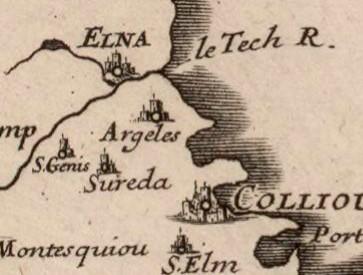 6 1688 marca hispanica sive limes hispanicus - Le Racou vu d'en haut - Cartes géographiques