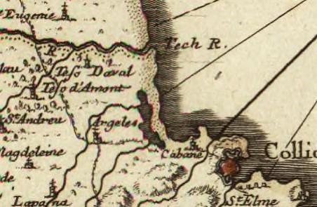 8 1706 le roussillon subdivise en cerdagne capsir conflans vals de carol et de spir - Le Racou vu d'en haut - Cartes géographiques