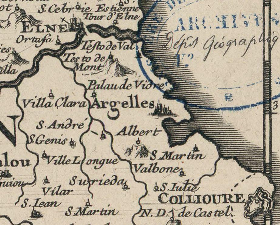 9 1710 1746 le comte de roussillon - Le Racou vu d'en haut - Cartes géographiques