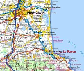 carte racou perpignan - Le racou : Espace littoral remarquable