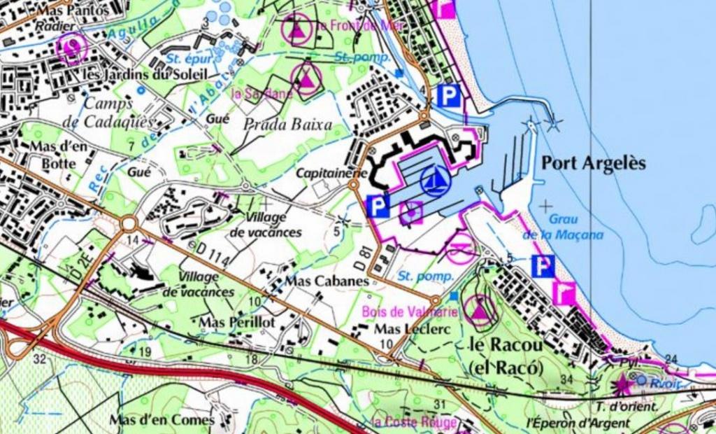 carte racou port d argeles 1024x620 - Le racou : Espace littoral remarquable