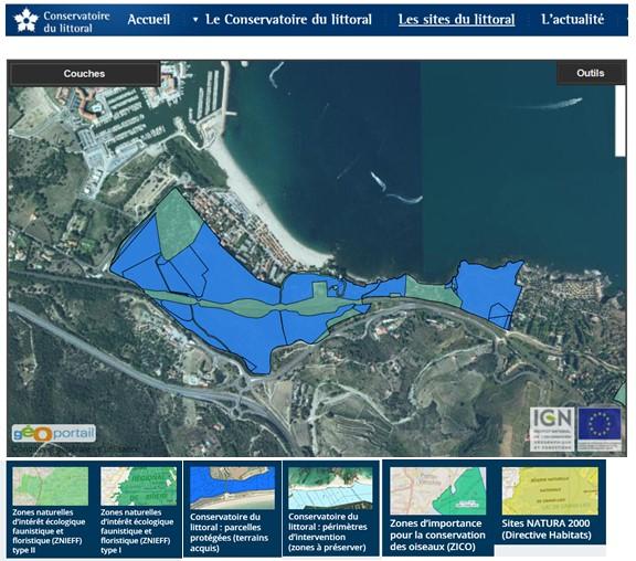 site classe - Le racou : Espace littoral remarquable