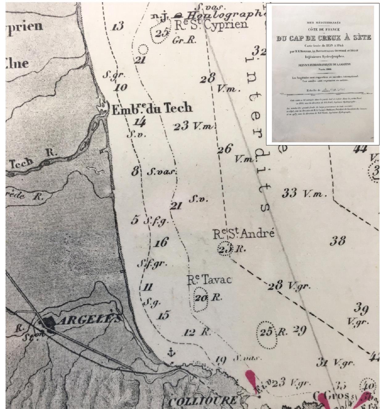 1840 - Le Racou vu d'en haut - Cartes géographiques