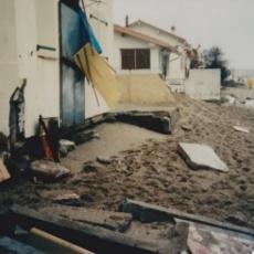 dégâts racou tempête plage