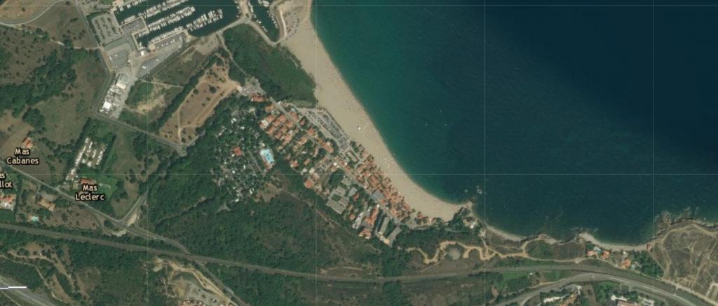 le racou vu d en haut - Le racou : Espace littoral remarquable