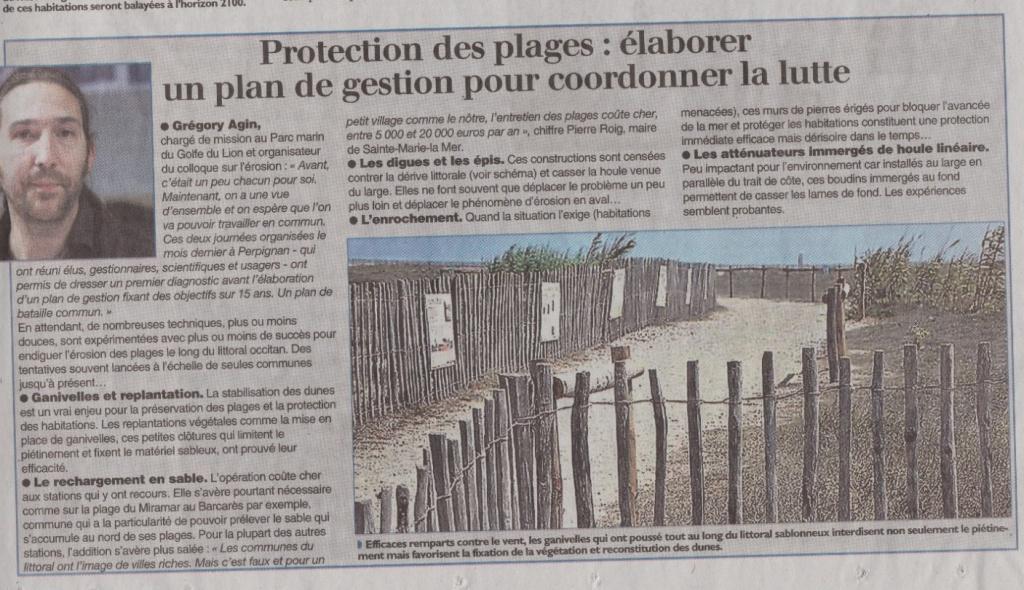 protection plage racou e1528735348145 - Article de l'Indépendant sur l'érosion du littoral