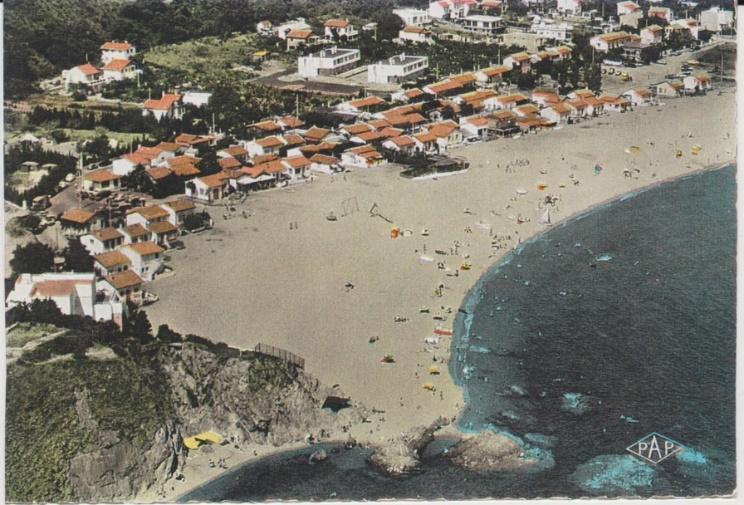 racou vu de la colline plage 1960 - L'érosion du littoral au Racou