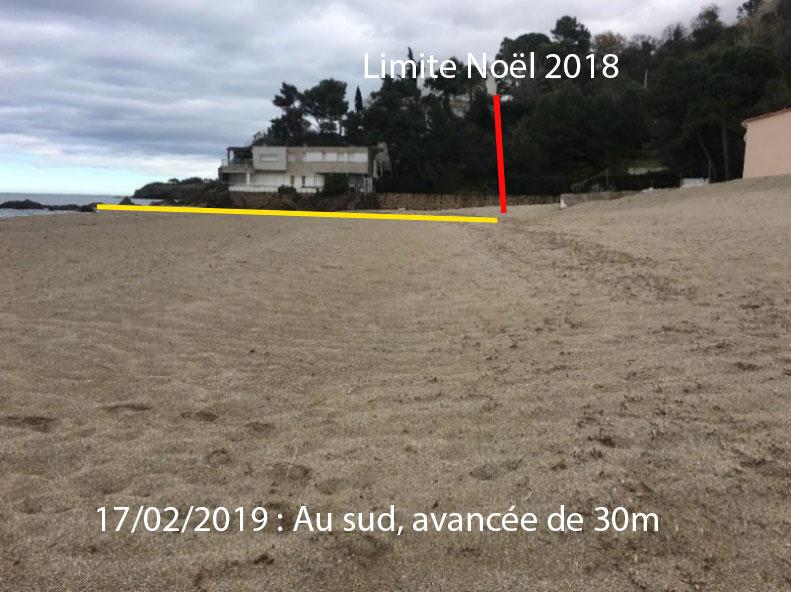 illustration article racou hiver 2018 2019 - La plage du Racou au cours de l'hiver 2018-2019