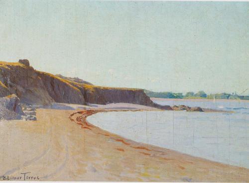 Crique de Porteils  - Etienne Terrus (1857-1922) -Marine
